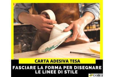 Carta adesiva Tesa per disegnare sulla forma della calzatura