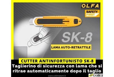 Cutter di sicurezza OLFA SK-8