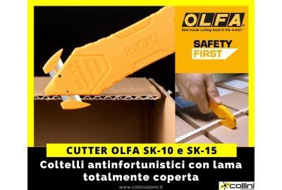"""Prevenire gli infortuni sul lavoro con la linea cutters OLFA """"Safety First"""""""