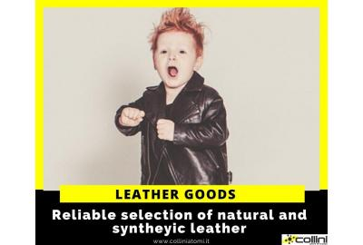 A selection of natural and synthetic leather goods for shoes
