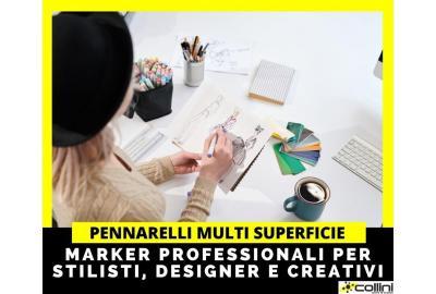 Pennarelli professionali per stilisti, designer e creativi