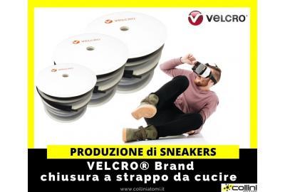 La produzione di sneakers dotate di chiusura a strappo VELCRO® Brand