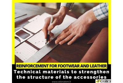 Reinforcement for footwear and leather