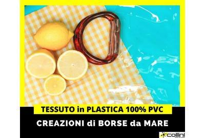 Tessuto in plastica PVC per creare borse, calzature e accessori moda