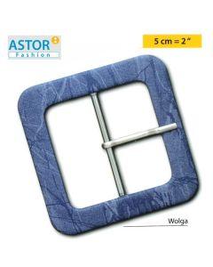 Fibbia ricoperta Astor ® mod. WOLGA 50 mm