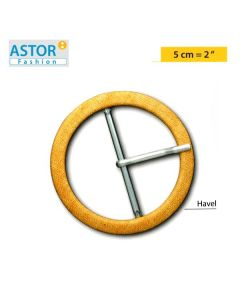 Fibbia ricoperta Astor ® mod. HAVEL 50 mm