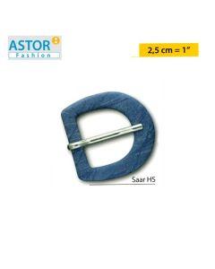 Fibbia ricoperta Astor ® art. SAAR HS 25 mm