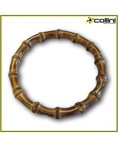 Manico tondo per borse in bamboo fumèe art. 24148