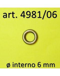 Anelli chiusi ø 6 mm art. 4981/06 - finitura Ottone Antico