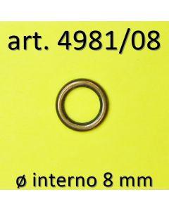 Anelli chiusi ø 8 mm art. 4981/08
