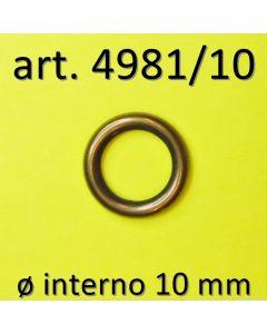 Anello chiuso ø 10 mm art. 4981/10 in finitura Ottone Antico