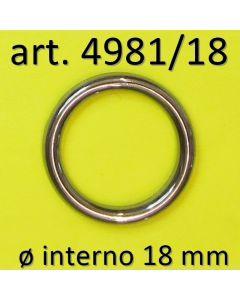 Anelli chiusi ø 18 mm art. 4981/18
