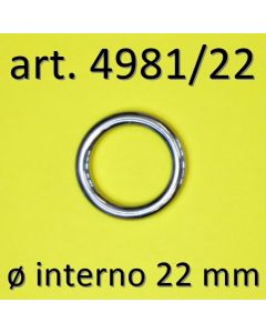 Anelli chiusi ø 22 mm art. 4981/22