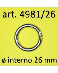 Anelli chiusi ø 26 mm art. 4981/26
