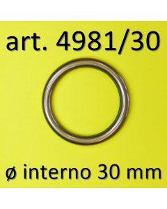 Anelli chiusi ø 30 mm art. 4981/30