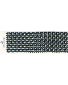 Swarovski standard 5-row rhinestone ribbon
