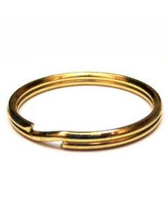 52A30 - anello porta chiavi in acciaio - finitura ORO