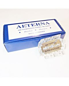 AETERNA Super Stainless Steel Blades Hardest Sharpest Made in Sweden (200 pieces)