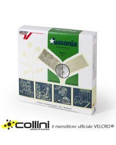 La scatola di colore verde tipica della versione autoadesiva di Ausonia VELCRO®