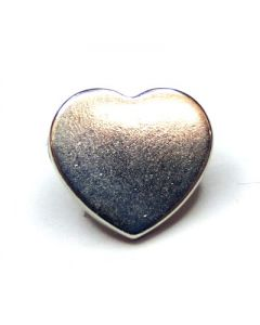 Heart shaped studs with rivet BC5090