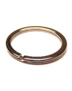 Anelli portachiavi brisè in acciaio - diametro interno 30 mm - finitura NICKEL