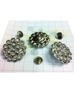 Flower Shaped rivet with Rhinestones C/6159