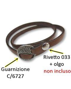 Chiusura scorrevole per braccialetti art. C/6727 - RIVETTO 033 NON INCLUSO