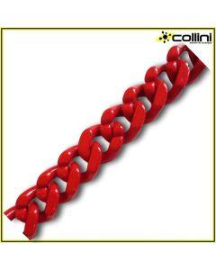 Catena in ABS - colore rosso - B9034 (al metro)