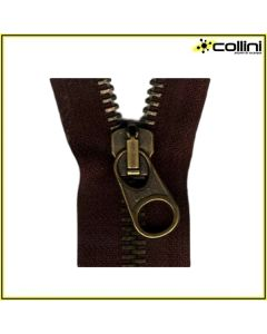 Divisible metal zippers