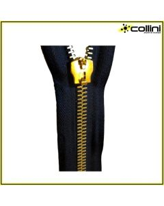 Metal zipper 6-mm high continuous flange (sold by the metre) - Gold finishing
