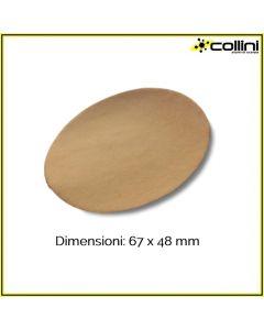 Inserto in cuoio ovale 83X64 mm