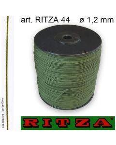 Cordino poliestere con lubrificazione siliconica ø 1,2 mm art. RITZA 44 (rocchetto da 500 metri)
