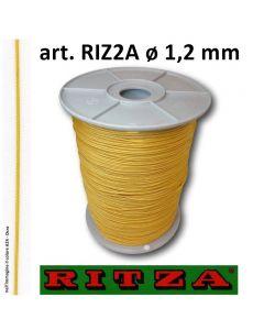 Filo per braccialetti art. 2A ø 1,2 mm (bobina da 500 metri) nel colore A24 - Ocra