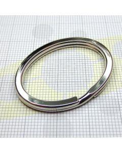 Anello portachiavi ovale in acciaio art. D/1181