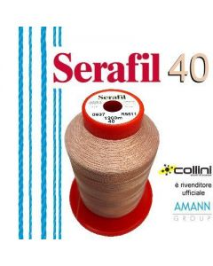 SERAFIL polyester thread - ticket 40 (1,200-metre cone)