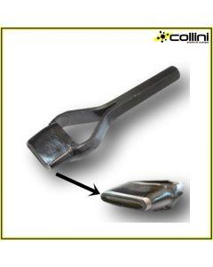 Fustella ovale da battere a martello