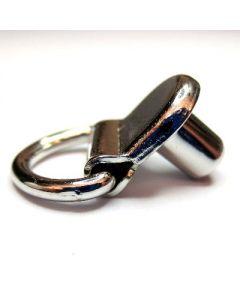 Gancio con anello snodato e rivetto art. GN491