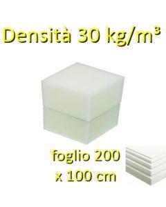 Fogli-gommapiuma-da-30 Kg-m-200x100cm-bianco