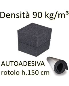 Gommapiuma AUTOADESIVA 90Kg/m3 (rotolo h.150 cm)