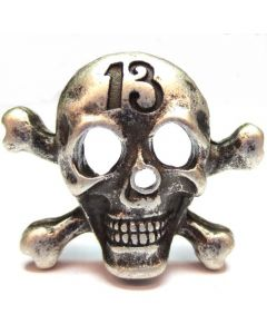 "Skull ""13"" shaped with two rivets C/6580"