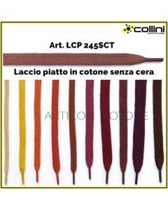 Lacci in cotone piatto art. LCP 245SCT (alla grossa = 72 paia)