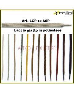 Lacci in poliestere piatti art. LCP 10 A6P (alla grossa = 72 paia)