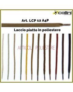 Lacci in poliestere piatti art. LCP 12A4P (alla grossa = 72 paia)