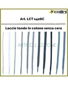 Lacci in cotone tondi art. LCT 142SC (alla grossa = 72 paia)