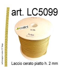 Piattina in laccio cerato h. 2 mm art. 5099
