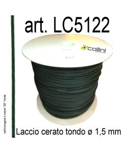 Cordino tondo in cotone cerato ø 1,5 mm art. 5122