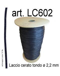Cordino cerato tondo ø 2,2 mm art. LC602