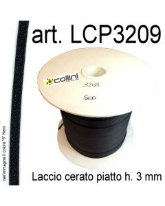 Piattina in laccio cerato h. 3 mm art. 3209