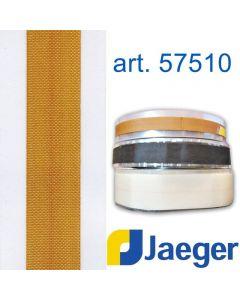 Nastro da rinforzo per punti critici con taglio a disegno art. JAEGER 57510. Nell'immagine il nastro marrone è in altezza 20 mm