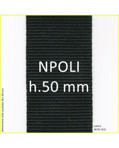 nastro in polipropilene nero in altezza 50 millimetri